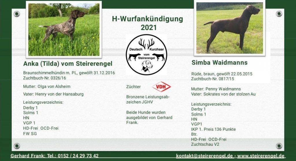 Wurfankündigung-Anka-vom-Steirerengel-und-Simba-WaidmannsTilda und Simba